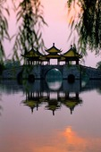 Yangzhou's Five Roof Pavilion (Wu Ting bridge) on Slender West Lake