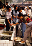 Chengdu street market fish stall