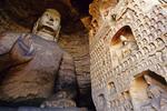 Yungang Buddhist Grottoes 16.8 Meter high Sakyamuni Buddha in Cave 19
