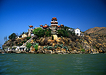 Lake Erhai's Guanyin (Goddess of Mercy) Temple on shore of Lake Er Hai near Dali