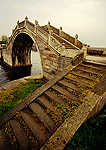 Ancient arched stone pedestrian bridge between Hangzhou and Shaoxing