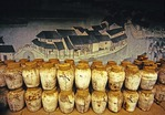 Shaoxing's Xianheng Tavern with mural and wine storage jars, location of a Lu Xun story 