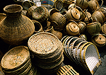 Rattan items in market in Shaoxing's Keqiao Old Water Town
