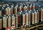 Beijing's east suburb of Tongzhou, gated apartment complex