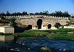Beijing's east suburb of Tongzhou, ancient Ba Li stone arch bridge