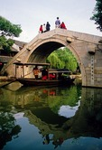 Xitang ancient water town arched stone bridge, location for film Mission Impossible III