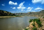 Yellow River (Huang He) at Qikou, Shanxi, with Shaanxi province on left bank
