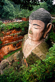 Sichuan's Leshan giant 8th century Maitreya Buddha on bank of Min River