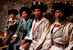 Elders of Qiang ethnic minority