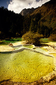 Huanglong scenic area crystal pools