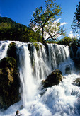 Jiuzhaigou valley's Shuzheng Waterfall, a World Biosphere Reserve and World Natural Heritage site
