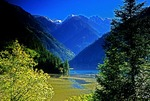 Jiuzhaigou (Nine Village Valley) Scenic Area, autumn view of Arrow Bamboo Lake