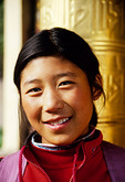 Tibetan teenage girl in Jiuzhaigou village