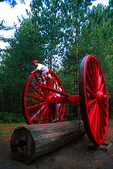 Michigan's Hartwick Pines big wheels used for logging