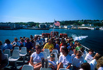 Mackinac Island ferry passengers leaving island