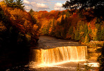 Michigan's Tahquamenon Falls State Park, upper falls on Tahquamenon River
