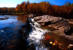 Bonanza Falls:  Falls near Porcupine Mountains Wilderness State Park in Michigan's western  Upper Peninsula.