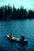 Isle Royale National Park canoeing at Tobin Harbor