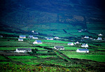 County Kerry cottages in countryside on Dingle peninsula