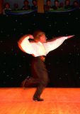 Michael Flatley of Riverdance in early performance at Dublin's Trinity College in 1994