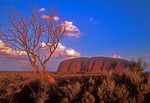 Uluru (Ayers Rock), sacred aboriginal site, at dusk