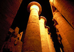 Temple of Karnak at night