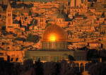Jerusalem's Dome of the Rock, al Aksa Mosque, and city skyline