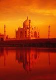 Taj Mahal reflected in Yamuni River
