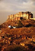 Jodhpur's Mehrangarh Fortress towering over the city