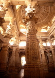 Ranakpur's Jain Temple of Chaumucha with its intricately carved pillars