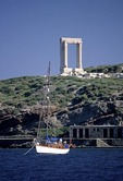 Naxos's Portara, stone doorway of Temple of Apollo on Palatia Islet
