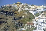 Santorini town of Fira (Thira)