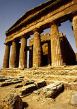 Sicily's ruins of the Temple of Concordia
