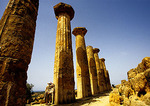 Sicily's ruins of the Temple of Hercules (500BC)