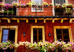 Taormina, wrought iron balconies with flowers