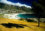 "Cape Town's Twelve Apostles with ""table cloth"" of clouds above suburban Camps Bay"