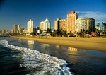 Durban's Indian Ocean beach and hotels