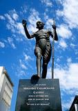 Mohandas Karamchand Gandhi statue in down town Pietermaritzburg
