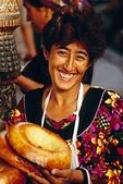 Samarkand market breadseller