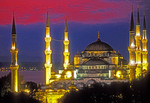 Istanbul's Blue Mosque at night