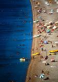Antalya beach on the Mediterrean Sea, the