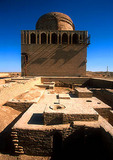 Ruins of ancient silk road city of Merv (aka Mary) including Mausoleum of Sultan Sanjar at top
