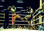 Bangkok Kick Boxing action (Muay Thai) at Lumpinee Stadium