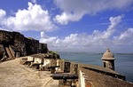 Old San Juan's El Morro Fort (Castillo de San Felipe del Morro), guns of the Santa Barbara Battery aimed seaward