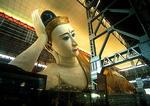 Yangon's 230-foot long reclining Buddha at Kyauk Htat Gyi Pagoda