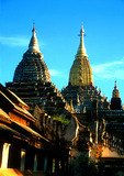 Bagan's Ananda Temple, a masterpiece of Mon architecture completed in 1091