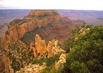 Grand Canyon's Wotan's Throne from north rim