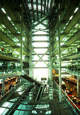 HSBC Main Building, The Hong Kong and Shanghai Banking Corporation, interior atrium, design by British architect Norman Foster