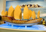 Zheng He's treasure ship model at China National Museum in Beijing