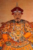 Emperor Qianlong, Qing dynasty,  in imperial robes with dragon design